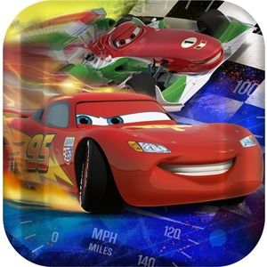 Disney Cars Grand Prix Dreams Party Lunch Plates